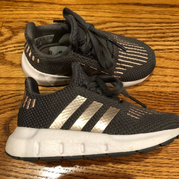 Adidas Shoes Toddler Girl Rose Goldgray Sneakers Size 6 Poshmark